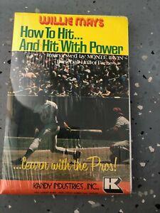 """Willie Mays 1970's original Cassette audio tape """"How to Hit"""" Unique"""