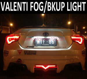 black LED Rear Bumper Reflector Brake Tail Fog Light For Scion FR-S 2013-2018