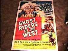 GHOST RIDERS OF WEST MOVIE POSTER R54 AMERICAN INDIAN