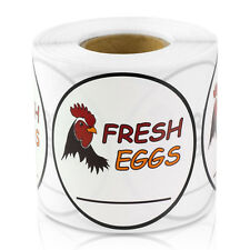FRESH EGGS Labels Organic Produce Eco Green Farm for Easter Stickers (2