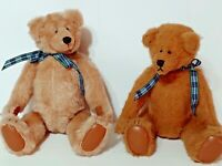 """TWO 2 Cindy Martin 9"""" Yesterbear Jointed 1984 Teddy Bear  b"""