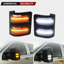 Switchback LED Side Mirror Marker Lights Smoked For 08-16 Ford F250 F350 F450 WH