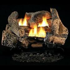 "Tupelo-2 18"" or 24"" Vent Free Fireplace Gas Logs COMPLETE Auto Start NG or LP"