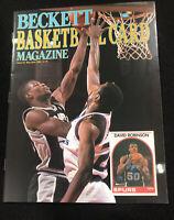 Beckett Basketball Card Magazine May/Jun 1990 #2 David Robinson Karl Malone