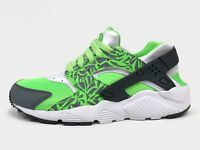 Nike Air Huarache Run Print sz 4.5Y Green Grey White Running Shoes GS 704943-300