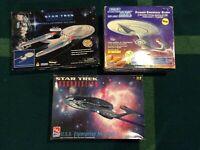 lot 3 Star Trek Ships - Playmates Enterprise Glider - AMT Playmates NCC-1701-E