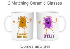 Couple Matching Mugs Peanut Butter Jelly Friendship Best Friend Love BFF Mugs