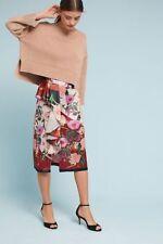 NWT SZ L $297 Anais Ruffled Floral Pencil Skirt By Delfi