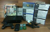 FAULTY PlayStation 2 Console Bundle with 40 Games 4 memory Cards DVD Remote
