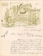 NÜRNBERG, Brief 1906, Schlossermeister Heinrich Strauber