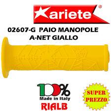 """Coppia / Paio Manopole A-NET GIALLE """" ORIGINALI ARIETE """"  02607-G per PIAGGIO"""