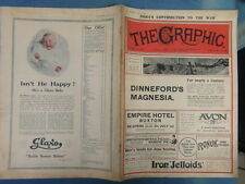 WWI WAR GUERRE 14/18 : revue THE GRAPHIC 1916 Nr 2430 (adv. ROYAL VINOLIA)
