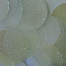 30mm Flat Round SEQUIN PAILLETTES ~ GREEN CRYSTAL IRIS LUMINESCENT MOONBEAM