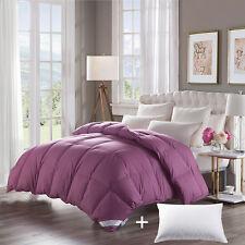 100% White Goose Down Comforter 800FP,100%Cotton,Queen Size,Medium Warmth