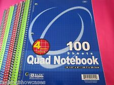 Spiral Quad Notebook 100 Sheets 4 Squares Per Inch 6 Spiral Graph Notebook Lot