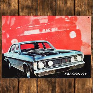 200mm x 285mm ALUMINIUM SIGN - 1969 XW FORD FALCON GT