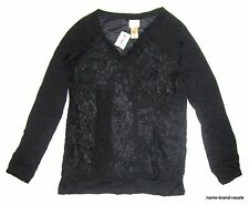 DAYTRIP Buckle NWT Juniors L LARGE Black Lace Top SHIRT Sheer Hippie Boho Indie