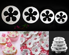 4 Piece Set Flower Fondant Cutter Cake Cookies Icing Decorating Tool Sugar Craft