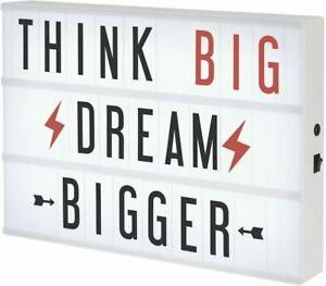 XL Cinema Lightbox - Create Words to Live By – lit sign board - GREAT GIFT