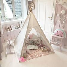 Tente de 5 Pouces en Toile de Coton en Forme de Tipi Pour Enfants (Tapis Inclus)