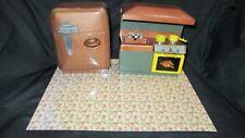 Vintage Remco Heidi Kitchen Set Refrigerator Oven Sink Stove Doll Furniture