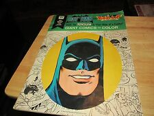 BATMAN AND ROBIN BATTLE THE PENGUIN  WHITMAN GIANT COMICS TO COLOR  1976