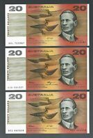Australia 🎇 $20 x 3 pieces Banknote 🎇 Collections & Lots #36061