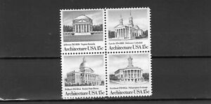 US stamps 1979 block of 4, American Architecture, MNH DG