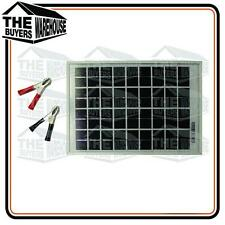 5 WATT SOLAR PANEL TRICKLE BATTERY CHARGER DIY ELECTRIC FENCE CARAVAN