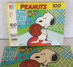 Snoopy Puzzle dog vintage Peanuts 100 piece USA 4382-5 complete 11X14 character