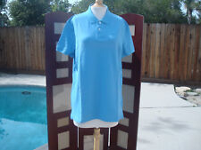 NWT Diadora Sky Blue Cotton Short Sleeve Cotton Men's Polo Shirt T-shirt  XL