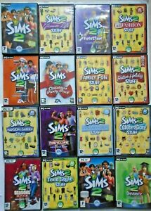 The Sims 2 Base Game and Expansion Packs (PC Games, Complete with Manuals)