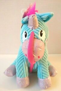 "8"" Petstages Corded Seamz Unicorn Plush Crinkly Squeaky Dog Toy"