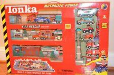 """TONKA MOTORIZED POWER TRAX """"FIRE RESCUE"""" MEGA PLAYSET! NEW IN BOX! RARE!"""
