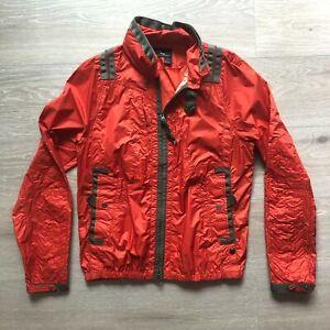 Ralph Lauren RLX Medium (M) Orange Waterproof Jacket Coat Men Military Parachute