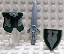 Lego Castle Green Armor Green Shield Silver Sword - Knight Kingdom - New (reA11)