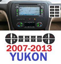 2007-2013 GMC YUKON AC AND RADIO WITH NAV. REPAIR BOTH DECALS