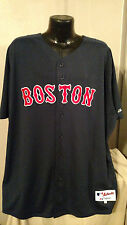 MLB Boston Red Sox On Field Authentic Baseball Blue Jersey Shirt Mens Chest Size