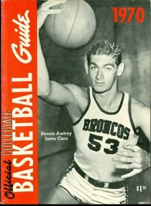1970 Official Collegiate Basketball Guide: Dennis Awtrey Santa Clara