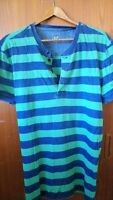 Gap Green n Blue Stripe Casual Tshirt Sz Medium