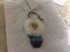 NWT Coach Fur Eskimo Key Fob /Keychain /Key Ring Charm 92796