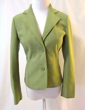 Talbots Petites Jacket Blazer Sz P Green Notched Collar Single Breasted Unlined