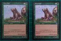 2X MTG MAGIC THE GATHERING BEAR CUB PORTAL SECOND AGE GREEN CREATURE COMMON NM