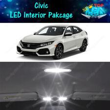 CANBUS White Interior LED Lights Package for 2013 - 2018 2019 2020 Honda Civic