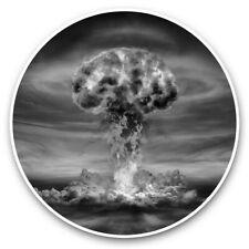 2 X Pegatinas De Vinilo 25cm (BW) - Nuclear Mushroom Cloud bomba guerra #37223
