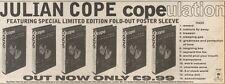 25/11/89Pgn06 Advert: Julian Cope 'copeulation' The New Video On Island 4x11