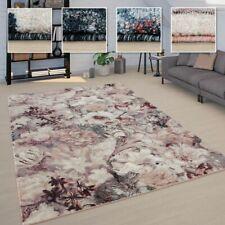 Teppich Wohnzimmer Florale Boho Muster Vintage Design Kurzflor Versch. Farben