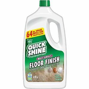 Quick Shine Multi-Surface Floor Finish and Polish 64 oz. Refill Bottle