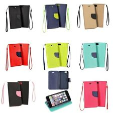 Custodia Cover Case Flip Book Libro Portafogli Per Apple Iphone 6 6s 7 8 e Plus