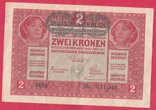 1917 Austria 2 Kronen Banknote- In Pretty good shape